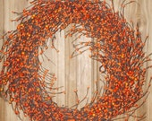 Pumpkin Strudel Autumn Berry Front Door Wreath