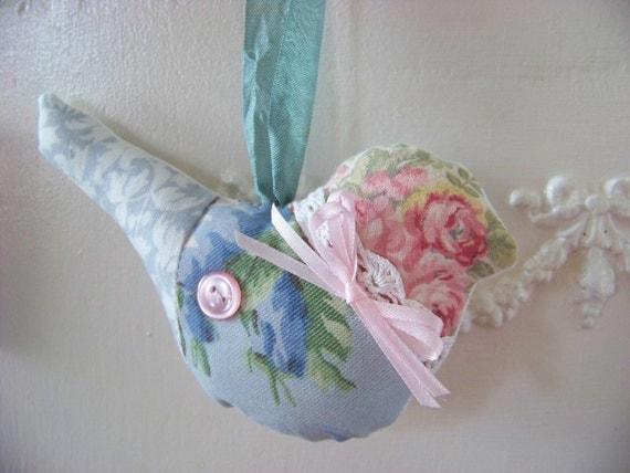 Sweet Little Birdie-Fabric Bird Pillow Ornament