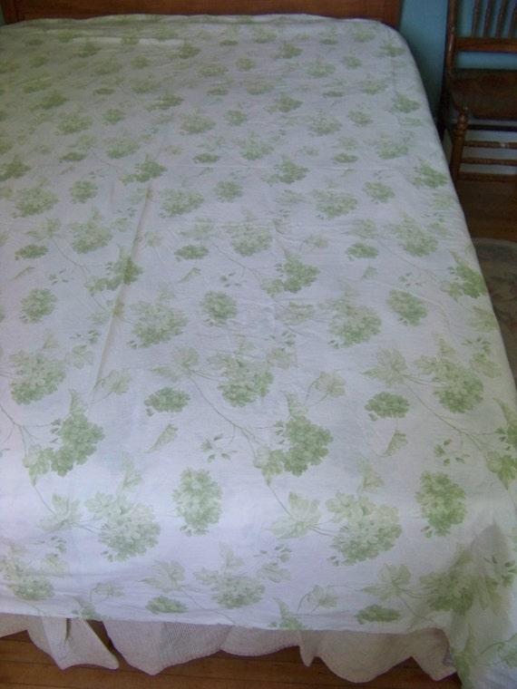 vintage green hydrangea print duvet cover full queen. Black Bedroom Furniture Sets. Home Design Ideas