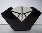 Vtg JASMIN Patent Leather and Snakeskin Clutch Handbag Purse
