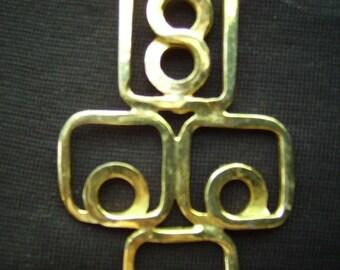 1970s Huge LES BERNARD INC Cross Pendant