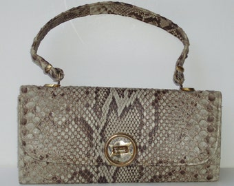 Python Snakeskin 60s Handbag Purse