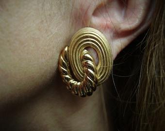 YSL Yves Saint Laurent Gold-tone Earrings