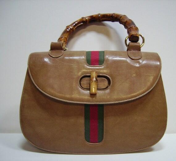 Vtg 60s MEYERS Handbag with Bamboo handle