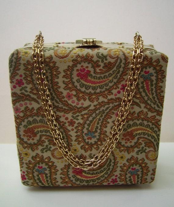 Vintage DeLill Brocade Evening  Bag