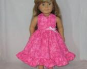 American Girl Clothes Pink Hawaiian Dress Kanani 18 Inch Doll Clothes