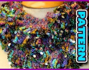 PDF CROCHET PATTERN/ Spiral scarf easy crochet pattern