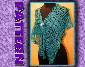 PDF KNITTING PATTERN/ light and lacey knitted shawl
