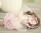 Leopard Rose- Pink and Animal Print Flower Headband - Perfect for Newborn, Baby Girl Headband, - m2m matilda jane serendipity
