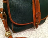 Authentic Vintage Green and Tan Dooney and Bourke Purse