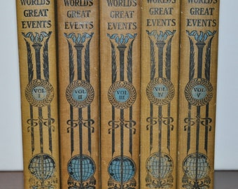 The Worlds Great Events 5 Volumes A History Of The World From Ancient To Modern Times
