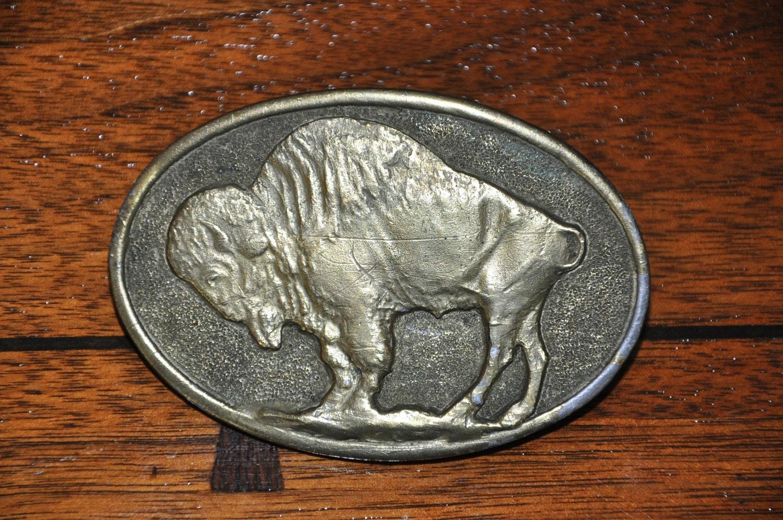 1978 Adezy Belt Buckle Buffalo Bison
