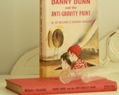 """1957 Science Book and Vintage Glass Test Tubes - Vintage Illustrated Book - """"Danny Dunn and the Anti-gravity Paint"""" Book with Dust Jacket"""