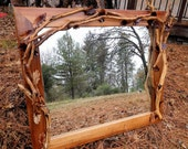 Large Mirror Wood Handcarved New