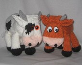 Toy Cow - KNITTING PATTERN  – pdf file by automatic download