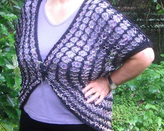 The Four L Shrug - KNITTING PATTERN -  pdf file by automatic download