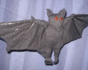 Toy Bat - KNITTING PATTERN – pdf file by automatic download