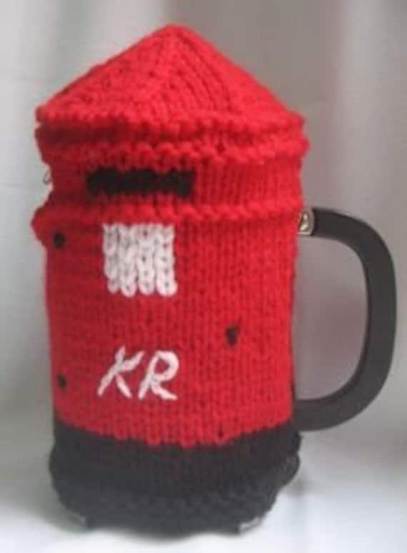Coffee Pot Cosy Knitting Pattern : Post Box Coffee Pot Cosy KNITTING PATTERN pdf file by