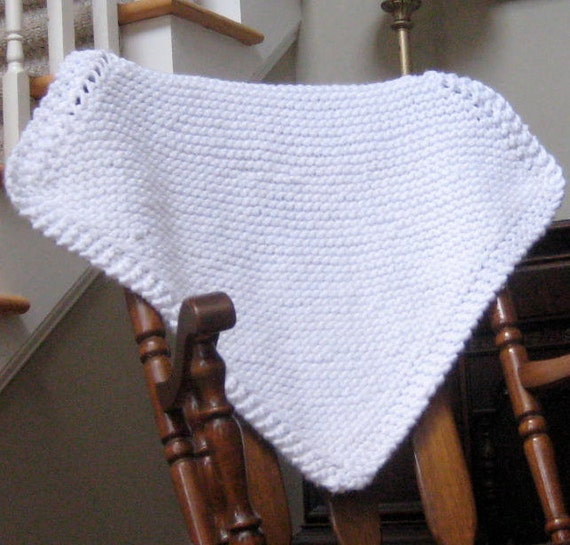 "White  Knit Baby Blanket as seen in ""Once Upon A Time"""