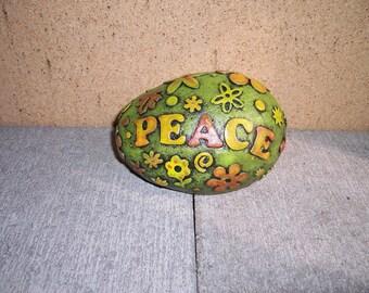Concrete Peace Rock Garden Statuary Yard art
