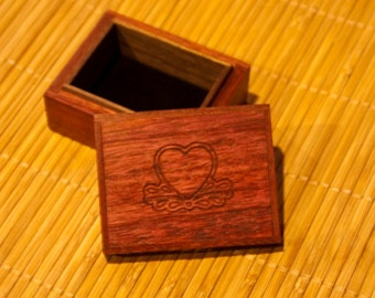 Hand made Ring, ear ring, cuff link Box  (SB0005)