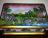 Zebra trinket box// Treasury Featured