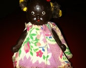 Adorable 1930s Black Americana Bisque Picaninny Doll