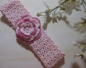 Pink Crocheted Headband