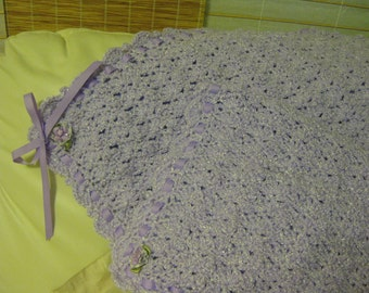 Made to Order Crocheted Lavander Baby Afghan