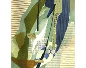 Collage print, Giclee quality, limited edition of original collage, fine art, art titled Allowing, 15 x 20, wall art