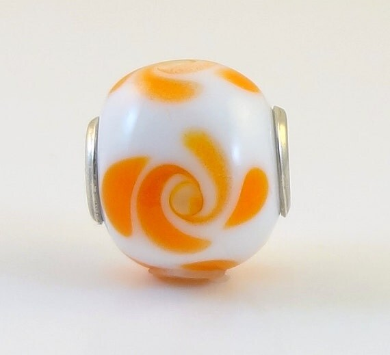 Lampwork Bead Focal Pendant Sterling Core  - 'Texas Twist'