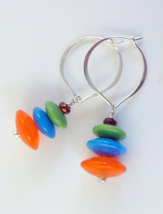 Lampwork Bead Earrings - 'Fiesta'
