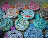 Twisted Fabric Flower Hair Clips - Baby Girls - Toddler Girls - Teenage Girls - Women