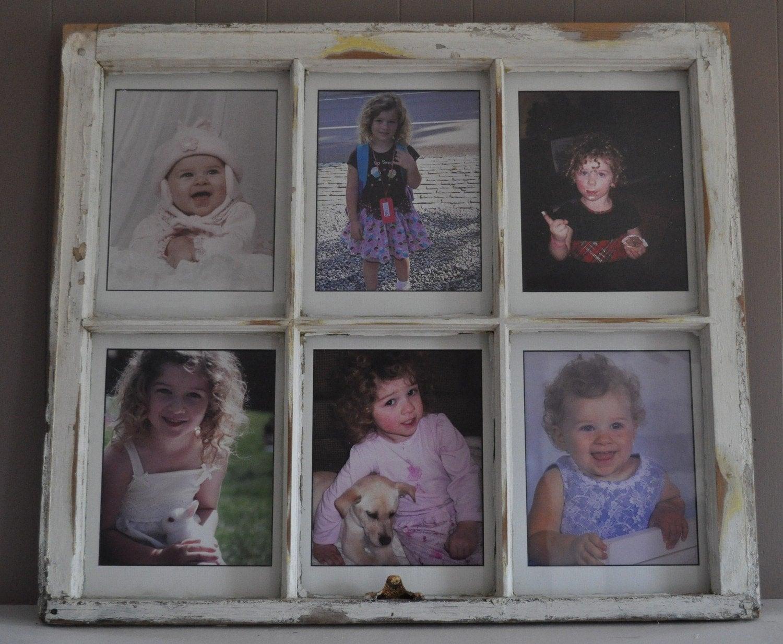 distressed window 6 pane frame zoom