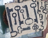 Coaster tiles  old world keys: REDUCED 10.50