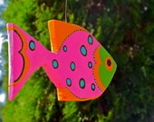 Bright Cheerful Wooden Fish Sculptures - Made to order