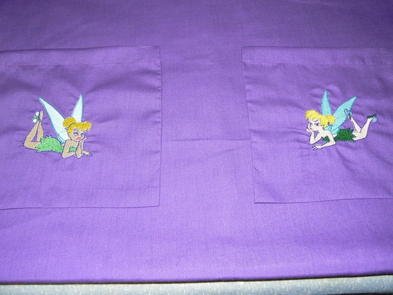 tinkerbell embroidered scrub top
