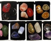 21 Stone MEGA-CHAKRA Healing Tumbled Crystal Set - 7 Sets for 7 Major Chakras - 7 Pouches & 7 Description Cards