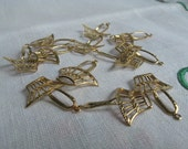 Vintage Jewelry findings, gold basket charms