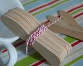 50 Wooden Taster Spoons - Ice Cream Party, Hot Chocolate/Coffee Dippers, Crafts