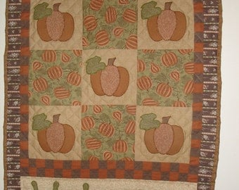 Wall Hanging - Autumn and Fall Pumpkins and Acorns Welcome banner - Free Shipping Etsy