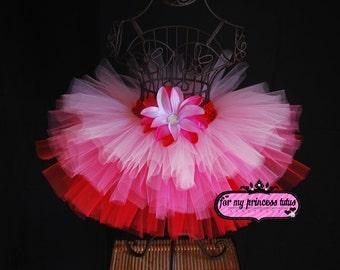 Valentine's Day Tutu - newborn tutu, infant tutu, baby tutu, toddler tutu, dance tutu, dress up tutu, pageant tutu, hot pink tutu, diva tutu