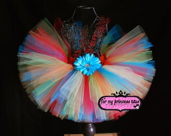 Skittles Tutu - newborn tutu, infant tutu, toddler tutu, rainbow tutu, candyland tutu, birthday tutu, baby shower tutu, pageant tutu, tutu