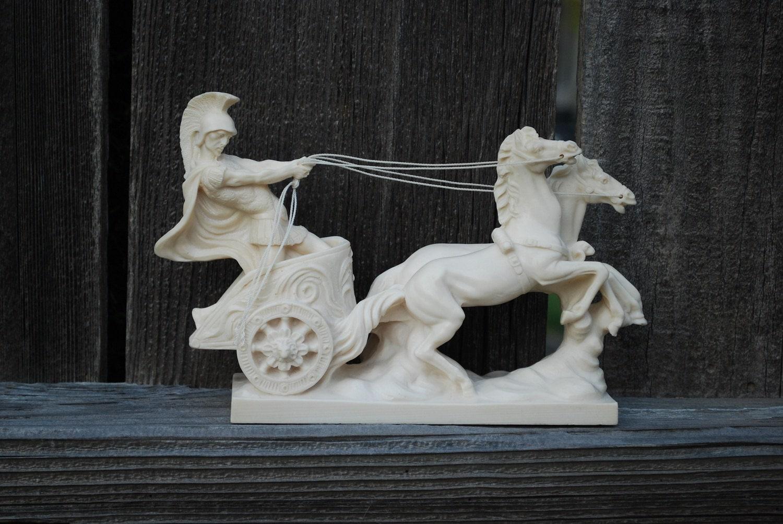 Vintage a santini roman chariot sculpture