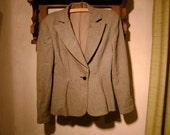 Vintage 1940's Womens Grey Rugged Suit Jacket