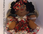 African American Holiday Raggedy Annie Angel Doll
