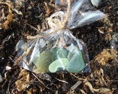 A little bag of Cornish sea glass (coloured)