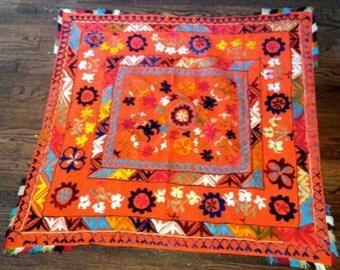 Colorful, square Suzani