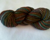 Markers on Manilla- Hand-dyed worsted weight wool yarn