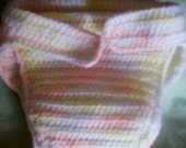 Gender Neutral Cloth Crocheted Diaper Wrap One Size